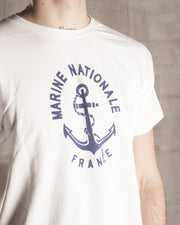 White French Navy T-Shirt - OVRLRD