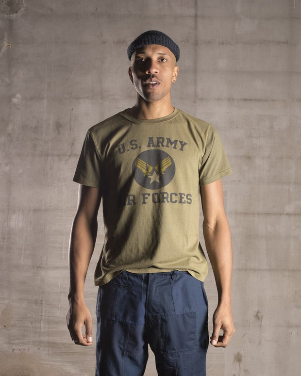 Overlord Upcycling Vintage | Olive US Army Air Forces T-Shirt