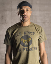 Overlord Upcycling Vintage • Olive US Army Air Forces T-Shirt