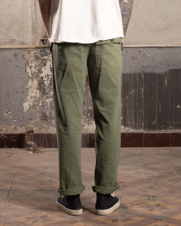 Overlord Upcycling Vintage • Military HBT Classic Pants OG107 - Green