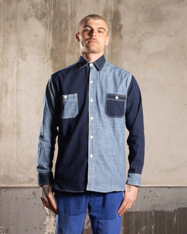 Overlord Upcycling Vintage • Classic Japanese chambray shirt - Bicolor