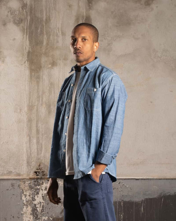 Overlord | Classic Japanese chambray shirt - Blue