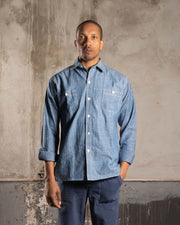 Overlord Upcycling Vintage • Classic Japanese chambray shirt - Blue