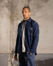 Overlord | Classic Japanese chambray shirt - Dark Blue