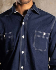 Overlord Upcycling Vintage • Classic Japanese chambray shirt - Dark Blue
