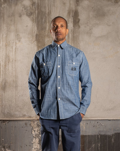 OVERLORD | Japanese Chambray US Navy Shirt