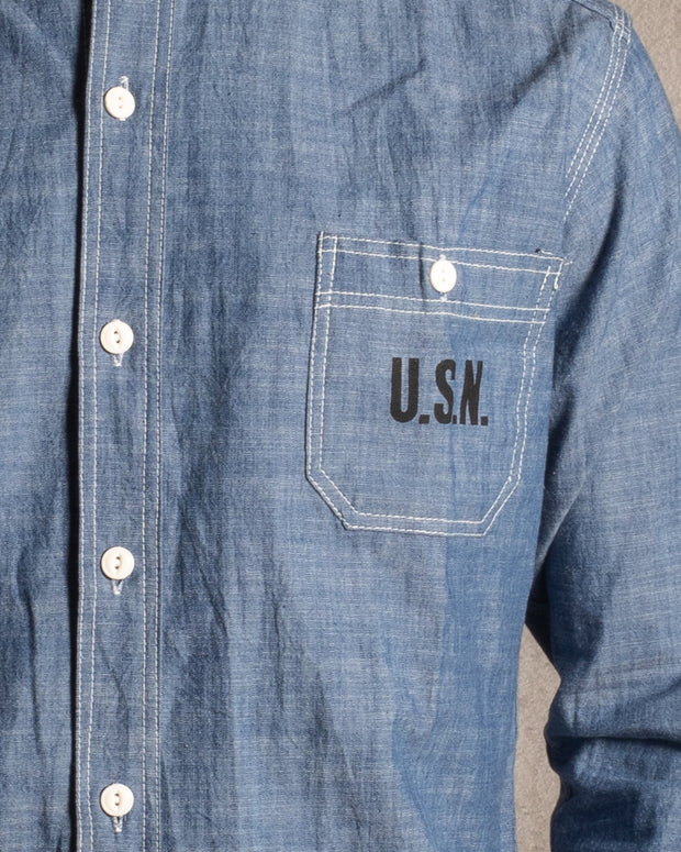 Japanese Chambray US Navy Shirt