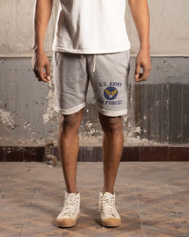 Grey US Army Air Force Cotton Shorts