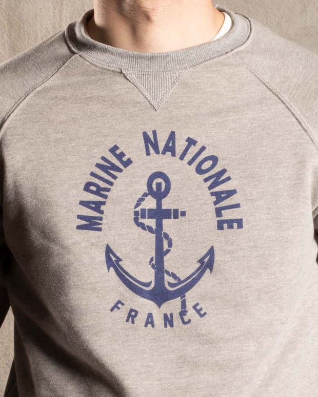 Overlord Upcycling Vintage • Marine Nationale Sweatshirt - Grey