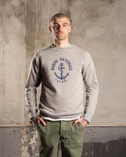 Overlord Upcycling Vintage | Marine Nationale Sweatshirt - Grey