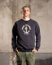 Overlord Upcycling Vintage | Marine Nationale Sweatshirt - Navy Blue