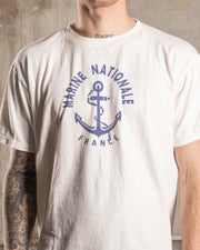 Overlord Upcycling Vintage • Marine Nationale T-Shirt - White