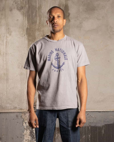 Overlord Upcycling Vintage • Marine Nationale T-Shirt - Grey