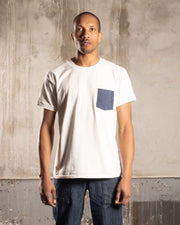T-Shirt with upcycled dots pocket - OVRLRD