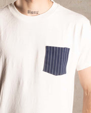 Overlord Upcycling Vintage | T-Shirt wit upcycled vertical lines pocket