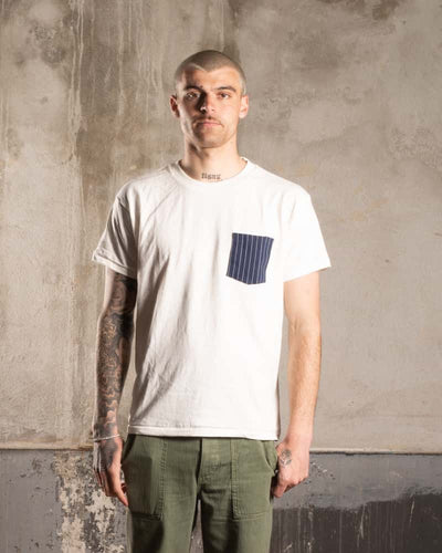 Overlord Upcycling Vintage • T-Shirt wit upcycled vertical lines pocket