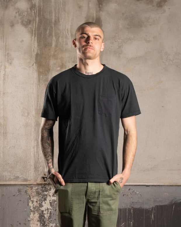Overlord Upcycling Vintage | T-Shirt with pocket - Black