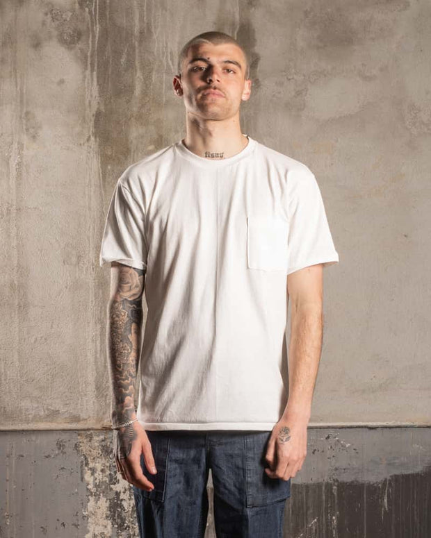 Overlord Upcycling Vintage • T-Shirt with pocket - White