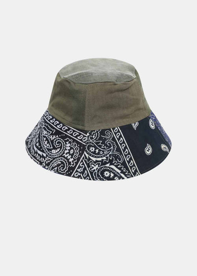 Military and Green Bandana Bob Hat