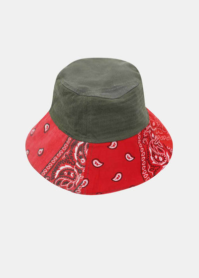 Military and Red Bandana Bob Hat