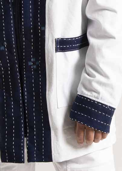 Noragi White Canvas • Patchwork Sashiko