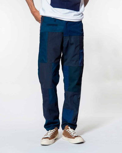 Overlord Upcycling Vintage | Navy Patchwork Pants Chino