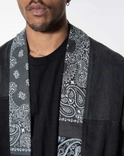Overlord Upcycling Vintage | Noragi Black Denim Patchwork Bandana