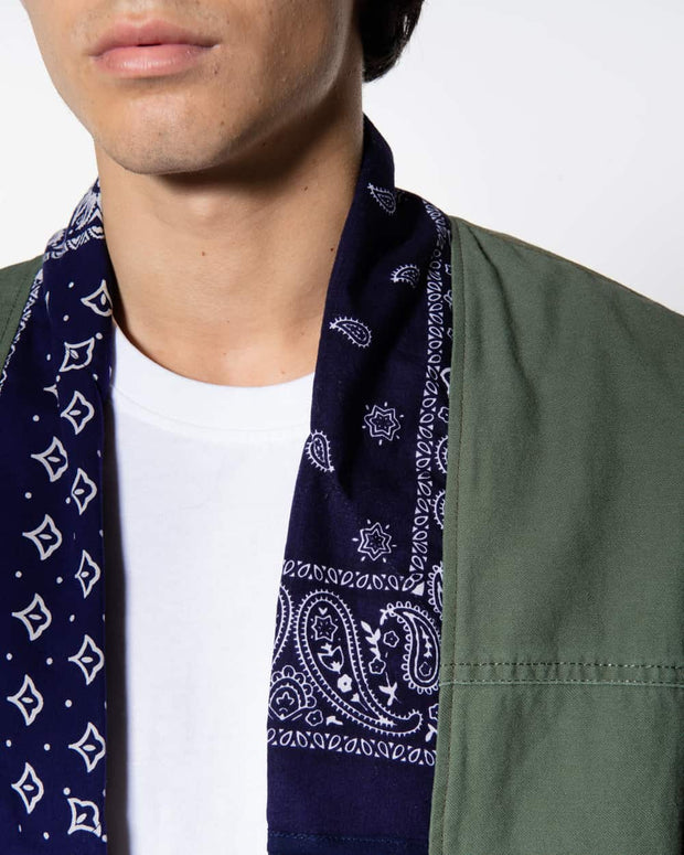 Overlord Upcycling Vintage | Noragi Vintage Military -  Patchwork Blue Bandana