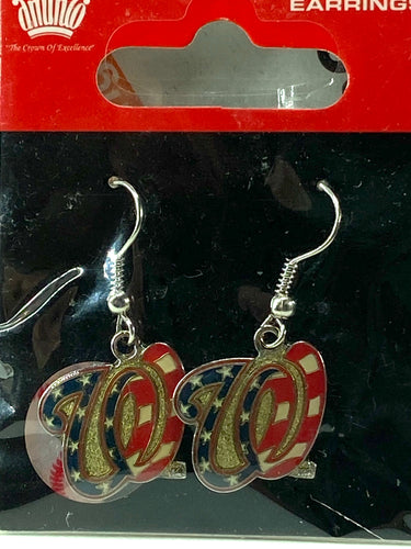 Washington Nationals Vintage MLB Stars & Stripes Dangle Earrings By Aminco International