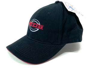 Cincinnati Reds Vintage Late '90's MLB Black Structured Ballcap (New) by Drew Pearson Marketing