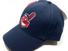 Load image into Gallery viewer, Cleveland Indians Vintage MLB Two-Tone 15% Wool Wahoo Cap (New) by Twins Enterprise