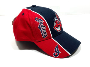 Cleveland Indians Vintage MLB Two-Tone 15% Wool Wahoo Cap (New) by Twins Enterprise