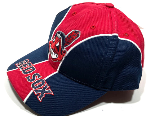 Cleveland Indians/Boston Red Sox (What?) MLB Vintage Cap (New) by Twins Enterprise
