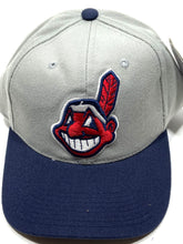 Load image into Gallery viewer, Cleveland Indians Vintage MLB Gray 20% Wool Cap by Sports Specialties