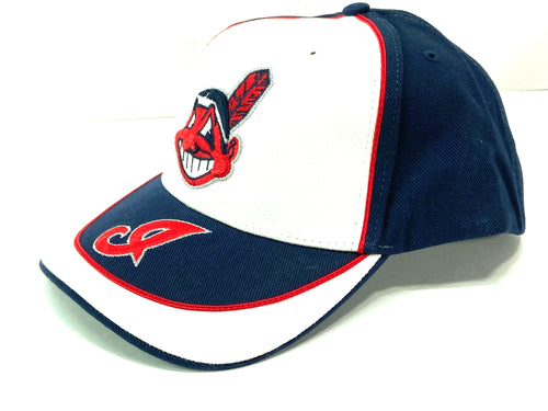 Cleveland Indians Vintage MLB White/Navy Cap (New) By Twins Enterprise