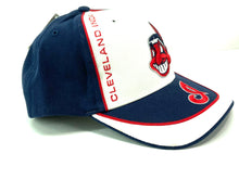 Load image into Gallery viewer, Cleveland Indians Vintage MLB White/Navy Cap (New) By Twins Enterprise