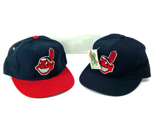 Cleveland Indians Vintage MLB Fitted 100% Wool Ball Cap (New) by New Era
