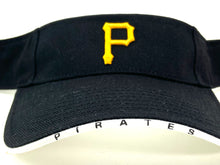 "Load image into Gallery viewer, Pittsburgh Pirates Vintage MLB ""Bones"" Visor (New) by Twins Enterprise"