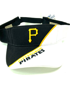 Pittsburgh Pirates Vintage MLB Two-Tone Visor (New) by Twins Enterprise