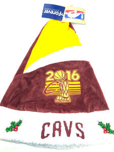 Cleveland Cavaliers 2016 NBA Champs Logo Santa Hat by Forever Collectibles