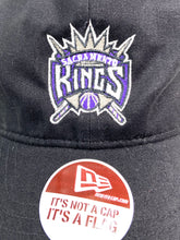 Load image into Gallery viewer, Sacramento Kings NBA Team Color Old Logo Black Cap (New) by New Era
