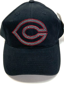 "Cincinnati Reds Vintage MLB Black ""Stitched Logo 'C' "" Cap (New) By American Needle"