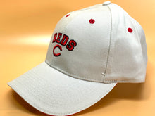 "Load image into Gallery viewer, Cincinnati Reds Vintage MLB Cream ""Block Reds"" Cap (New) By Drew Pearson"