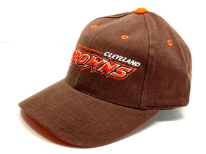"Cleveland Browns Vintage Late 90's NFL ""3-D Browns"" Cap (New) By Logo Athletic"