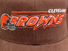 "Load image into Gallery viewer, Cleveland Browns Vintage Late 90's NFL ""3-D Browns"" Cap (New) By Logo Athletic"
