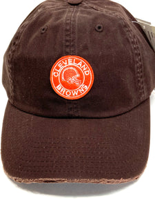 "Cleveland Browns Vintage NFL ""Tattered"" Brown Cap (New) By American Needle"