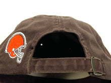 "Load image into Gallery viewer, Cleveland Browns Vintage NFL ""Tattered"" Brown Cap (New) By American Needle"