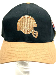 Cleveland Browns Vintage NFL Tan Logo On Black Cap (New) By American Needle