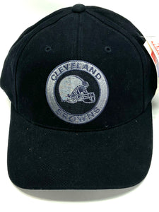 Cleveland Browns Vintage NFL Black Circle Logo Cap (New) By American Needle