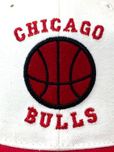 "Load image into Gallery viewer, Chicago Bulls Vintage NBA White ""Basketball"" Cap (New) By Annco"